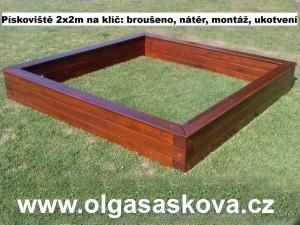 DOUGLASKA dřevěné pískoviště 2x2 m na dětská hřiště dřevěná pískoviště dětská pískoviště dětské dřevěné pískoviště pro děti ze dřeva
